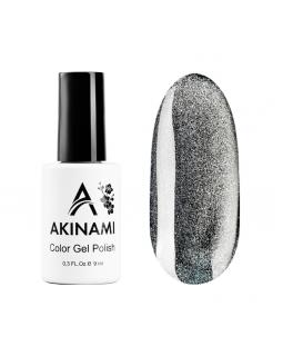 Akinami Гель-лак Cat Eye Silver 9 мл