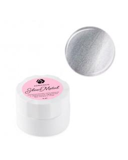 ADRICOCO, Silver metal Металлическая гель-краска для дизайна ногтей с зеркальным эффектом, 5 мл.