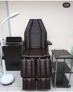 Кресло Косметологическое Классик БМ+РВ+РН ( Чёрное)