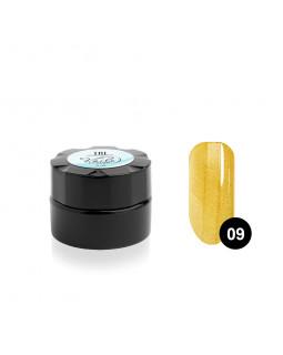Гель-краска для тонких линий TNL Voile №09 паутинка (золотая), 6 мл.