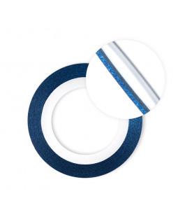 Нить на клеевой основе перламутровая (синяя)