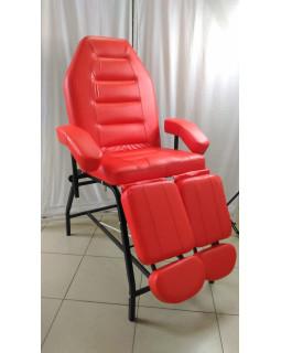 Педикюрное кресло, цвет красный