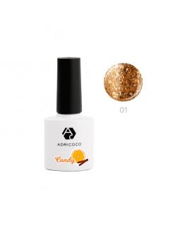 Гель-лак ADRICOCO CANDY №01 - Апельсин с корицей (8 мл.)