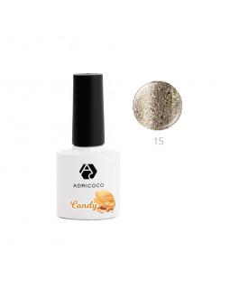 Гель-лак ADRICOCO CANDY №15 - Белый шоколад с арахисом (8 мл.)