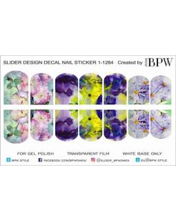 Слайдер-дизайн Цветы акварель