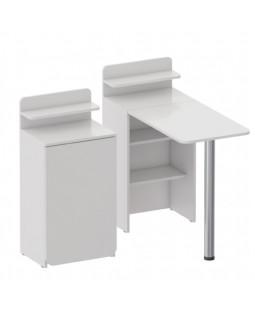 Маникюрный стол Лайт 1, цвет белый