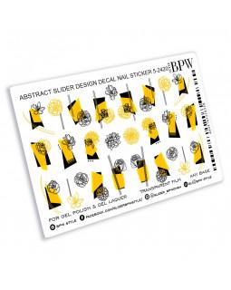Слайдер-дизайн Желтый и черный микс